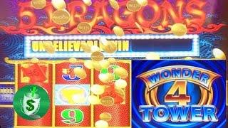 5 Dragons Wonder 4 Tower slot machine, Quest for Super Free Games