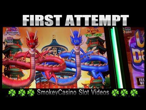 DRAGON'S LAW *TWIN FEVER* Slot Machine Bonus* 1st Attempt