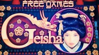 •That's why I love Geisha !•GEISHA (Aristocrat) Slot (25 c Denom)•$175 Free Play Live•彡San Manuel  栗