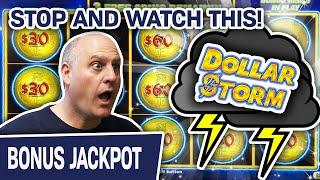 ⋆ Slots ⋆ STOP What You're Doing & WATCH THIS NOW: ⋆ Slots ⋆ Slot Machine HANDPAY on Dollar Storm!