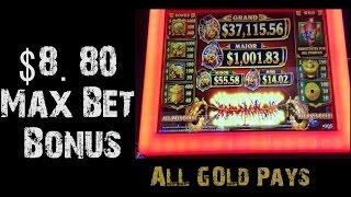 $8.80 Max Bet All Gold Pays and big wins!!!