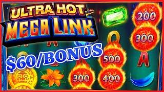 HIGH LIMIT Ultra Hot Mega Link Amazon ⋆ Slots ⋆$60 Bonus Round Slot Machine Casino