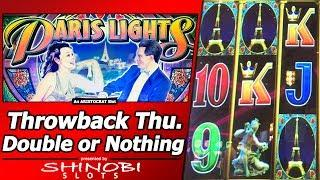 Paris Lights Slot - Throwback Thursday Double or Nothing, Live Play and Free Spins Bonus