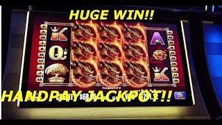 INSANE FREE SPIN!! HUGE WIN HANDPAY JACKPOT 25c Dragons Bucks Pokie slot machine Aristocrat