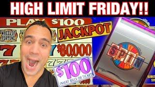 ⋆ Slots ⋆ $100 Wheel of Fortune JACKPOT HANDPAY!! | $25 bets on Huff N' Puff ⋆ Slots ⋆ | High Limit