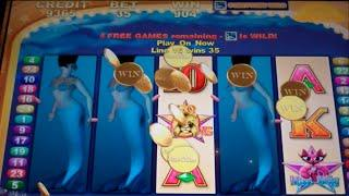 VIP All Stars Slot Machine - Magic Mermaid Bonus Feature - Free Games w/ Stretched Wilds - Big Win