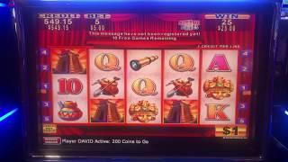 HIGH LIMIT $5 BET KONAMI 10 FREE GAMES BONUS! Sizzling Slot Jackpots CASINO Videos