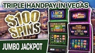 ⋆ Slots ⋆ Huff N' Puff TRIPLE HANDPAY in VEGAS ⋆ Slots ⋆ $100 Slot Spins on Lock It Link: Piggy Bank