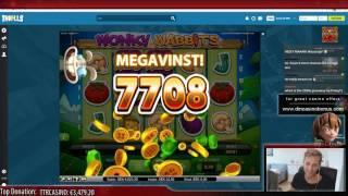 SUPER MEGA BIG WIN STREAK - Wonky Wabbits (NetEnt)