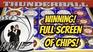 WINNING-MY FIRST FULL SCREEN OF CHIPS!