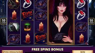 ELVIRA: MISTRESS OF THE DARK Video Slot Game with an ELVIRA FREE SPIN BONUS