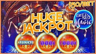 HIGH LIMIT Drop & Lock Deep Sea Magic HUGE HANDPAY JACKPOT $50 BONUS ROUND LOCK IT LINK SLOT MACHINE