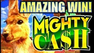 •MIGHTY BIG WIN! NEW SLOT!• OUTBACK BUCKS MIGHTY CASH Slot Machine Bonus (Aristocrat)