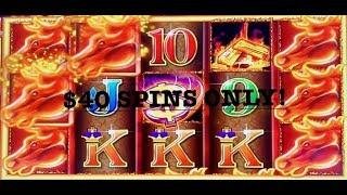 HIGH LIMIT MUSTANG MONEY 2 ~ (3) HANDPAY JACKPOTS $40 SPINS ONLY ~ AINSWORTH SLOT MACHINE