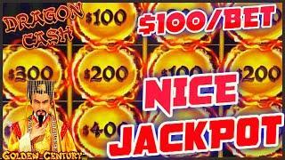 HIGH LIMIT Dragon Cash Link Golden Century HANDPAY JACKPOTS ⋆ Slots ⋆$100 Bonus Round Slot Machine C