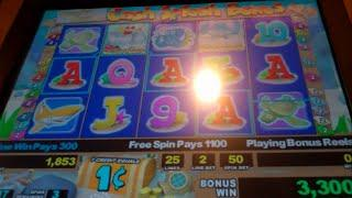 Crafty Carl's Crabmania Slot Machine Bonus + Retrigger - 20 Free Spins, Nice Win