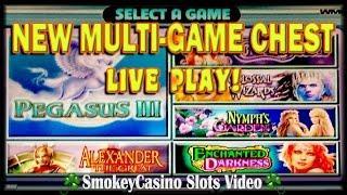 WMS GAME CHEST 4? Multi-Game Slot Machine ~ Live Play+Bonuses