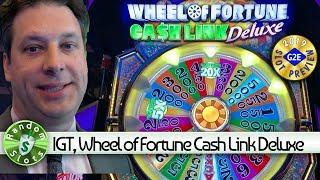 Wheel of Fortune Cash Link Deluxe  slot machine preview, IGT, #G2E2019