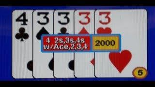 "$2,015.00 Jackpot on Five Play ""Super Star Poker"" Video Poker @ Palazzo, Las Vegas on 12/07/17"