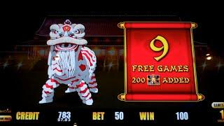 Happy Lantern Lightning Link Slot Machine Bonus - 9 Free Games with 200 Added Wilds - BIG WIN