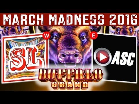 ★ MARCH MADNESS 2016 CHAMPIONSHIP GAME ★ BUFFALO GRAND Slot Machine Tournament ★ EAST VS. WEST ★