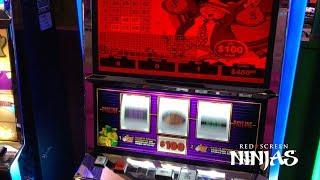 VGT SLOTS - $100 MAX BET DOUBLE JACKPOT WIN OVER $8,000 HANDPAY - RIVERWIND CASINO