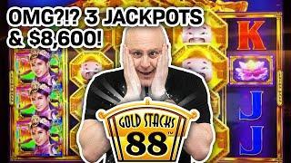 ⋆ Slots ⋆ OMG?!? $8,600 Won From THREE JACKPOTS! ⋆ Slots ⋆ Thank YOU, Gold Stacks @ Hard Rock!