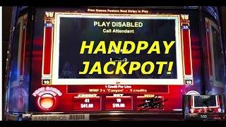 ** HANDPAY JACKPOT ** High Limit $10 Mustang Money Ainsworth slot machine Pokie