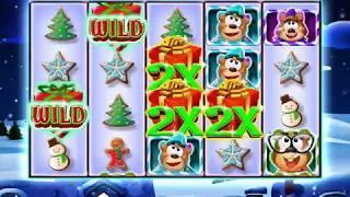 JINGLE BEARS Video Slot Casino Game with a SANTA'S SLEIGH FREE SPIN BONUS