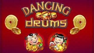 Dancing Drums Slot Machine Live Play | SEASON 5 | EPISODE #23