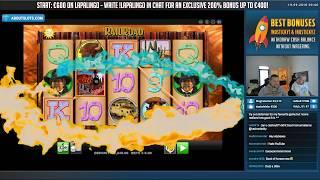 Railroad BIG WIN - Slots - Casino games (Online slots) from LIVE stream