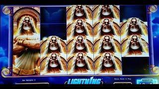 ZEUS Slot Machine MAX BET Lighting BONUS WON + Top Dollar Slot Bonus ! •KRONOS FATHER OF ZEUS•