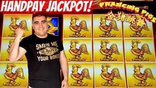 HANDPAY JACKPOT On Prancing Pigs Slot Machine   Live Slot Jackpot In Las Vegas