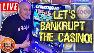 • LIVE Let's Bankrupt the Casino • High Limit Slot Jackpots at The Monarch Casino