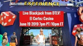 Live Blackjack from the El Cortez Casino! June 19 2019! $100 BETS!!
