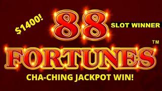 HUGE WIN on 88 Fortunes Slot Machine See Link in Description for new channel Billys Living Room