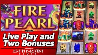 Fire Pearl Slot - Live Play and Two Free Spins Bonuses