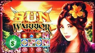 Sun Warrior slot machine, two sessions